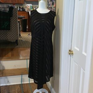 EUC Motherhood Maternity Black and Cream Dress